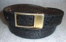 L Ricci Italian black alligator skin mens belt size L