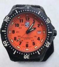Luminox Dive Watch Mens Quartz Series 8400 Orange Dial T25 Tritium Lume