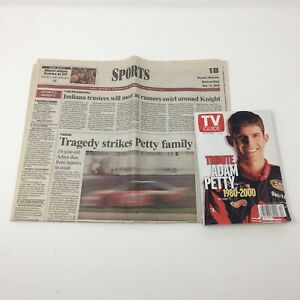 1999 TV Guide Tribute to Adam Petty NASCAR May-June 1999 Lot. Newspaper Article