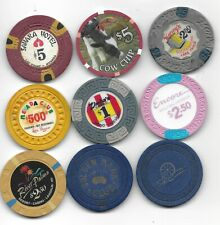 9 Casino Chip Collection Of Various Items From Locations Through Out Nevada-#8