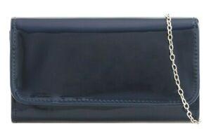 New Women Plain Patent Clutch Bag Ladies Evening Party Fashion Shoulder Bags UK