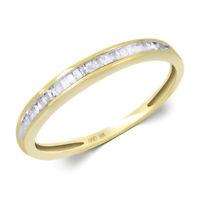 14k Yellow Gold Womens Diamond RING 1/6 CT Wedding Anniversary BAND Size 5-11