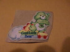 "VINTAGE 2 1/4"" Care Bears Good Luck Bear Fabric Iron on Patch 1980s"