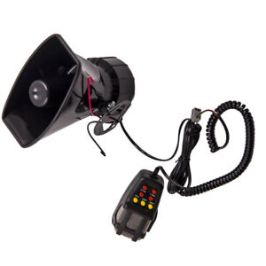 12V Loud Air Horn for Car Boat Van Truck 7 Sounds PA System Mic 110db