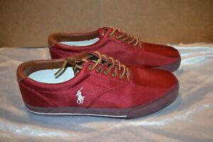 Polo Ralph Lauren Vaughn Nylon/Leather Shoes Color: Red Men's Size: 12D NIB!
