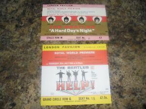 THE BEATLES HELP AND HARD DAYS NIGHT MOVIE MEMORABILIA