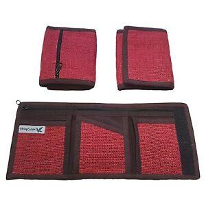 Eco-Friendly HempStyle Red Hemp Wallet Purse - Handmade Fair Trade Nepal