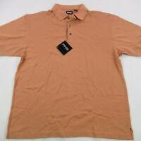 Ping Golf Men Polo Shirt Men Short Sleeve Large Solid NWT Orange Casual Golfer