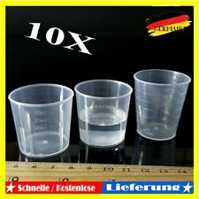 10x Kunststoff Messbecher Set Meßkanne Meßbecher 15ml/30ml Für Labor Küche DE