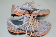 size 40 2d639 9b11e Women s MIZUNO Wave Prophecy 3 Orange Purple Athletic Running Shoes Size 7.5
