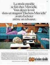 PUBLICITE ADVERTISING 126  1966   salon Aquilon chauffeuse Les Huchers Minvielle
