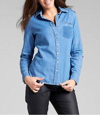 Figurbetonte 3/4 Arme Damenblusen,-Tops & -Shirts mit Klassischer Kragen für Freizeit