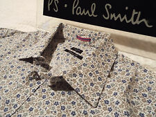 """PAUL SMITH Mens Shirt ��Size 17.5"""" (CHEST 46"""")�� RRP £95+�� FLORAL LIBERTY STYLE"""