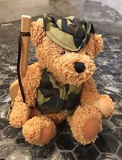 Dan Dee Collectors Choice Bear - Army Camo + Wooden Gun 6 Inch
