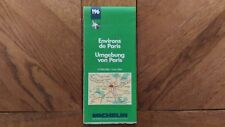 Carte Michelin « Environs De Paris N°196» 1988 Très Bon Etat.