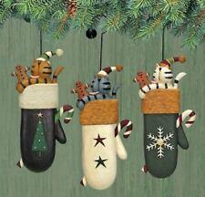 Williraye Studios Cats in Mittens Ornaments WW2895 New In Box