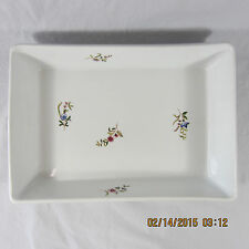 Bonne Cuisine Porcelain baking pan dish white floral pink blue green rectangle