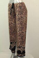 NEW Soma Intimates Animal Print Embraceable Pajama Regular Pant Jaguar XSmall