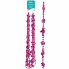 "Flamingo & Hibiscus Beads 33"" 6 Per Pack Party Favors"