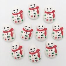 10pcs Resin hand painting Christmas snowman Flatback stone/Children scrapbook