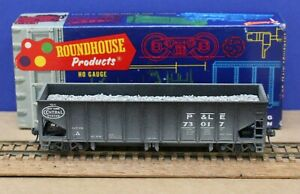 Roundhouse 1562 HO P&LE Ribside Ballast car Built KDs Weathered Resin Load Nice!
