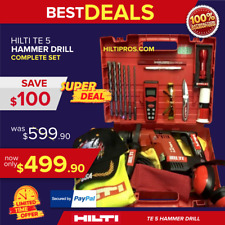 Hilti Te 5 Hammer Drill Lk Made In Germany Free Measurer Laser Fast Ship
