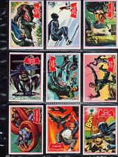 1966 Topps BATMAN A Red Bat PUZZLE BACK CARDS #2A 3A 4A 9A 11A 21A 24A 31A 39A