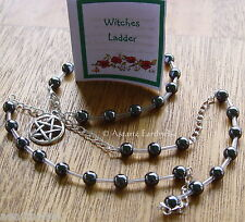 1 x HEMATITE GEMSTONE WITCHES' LADDER  Wicca Pagan Witch Goth