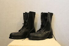 Mens BILTRITE Black Leather LINESMAN/Work Boots 11 Steel Toe Logger/Biker NWOB