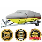 """18 ft up to 96"""" Boat Cover 600D Heavy Duty, Marine Grade Polyester Canvas, GRAY"""