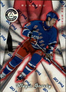 1997-98 Pinnacle Totally Certified Platinum Red Hockey Card #100 Wayne Gretzky