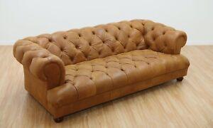 Drummond Grand Sofa,Semi Aniline Leather Ranch Tan
