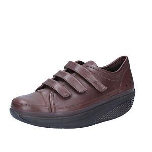 scarpe donna MBT 36 sneakers marrone pelle performance AC143-36