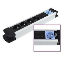 Aluminium Master Slave  Steckdosenleiste 5-fach Schutzkontakt 1,5m Kabel MS2500