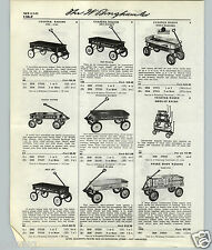 1959 61 PAPER AD Rex Garton Radio Flyer Line Super Coaster Wagon Rapid Delivery