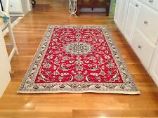 """Rug, """" Nain"""", 5'x9' red in color. Very little use, very clean!"""