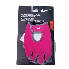 NWT Nike Women's Fundamental Fitness Gloves Pink & Gray Size XS Workout Gloves