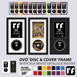 DVD FRAME Wood DISC & COVER Black White Colours Picture FRAMES Movie PS2 Xbox
