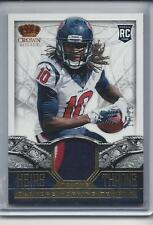 DEANDRE HOPKINS 2013 CROWN ROYALE HEIRS TO THE THRONE GOLD 3 COLOR PATCH RC /25