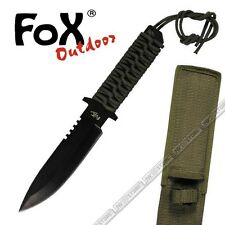 KNIFE COLTELLO FOX OUTDOOR DA CACCIA SURVIVOR PARACORD SURVIVAL SOPRAVVIVENZA OD