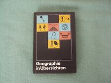 Schulbuch der DDR  Geographie in Übersichten