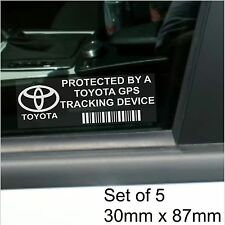 5 X Toyota Gps dispositivo de rastreo de seguridad stickers-avensis yaris-car Alarm Tracker