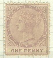Dominica QV 1874 1d pale lilac perforate 12½ wmk Crown CC sg1 cv£150 (1v)  Stamp