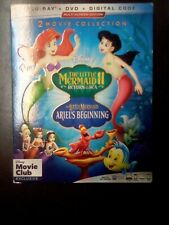 Little Mermaid 2-Movie Collection (Blu-ray, 2019, Disney Club Exclusive)