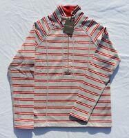 Tommy Bahama Half Zip Reversible Sweatshirt S Fossil Grey Chili Pepper Red
