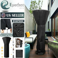 Gas Patio Heater Cover Waterproof w/ Zipper Heavy Duty Outdoor Heater Protector