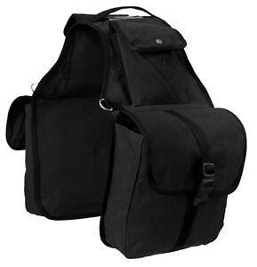 Tough 1 Black Canvas Saddle Bag horse tack equine 61-9267