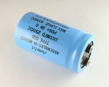 New 3300uF 250V Large Can Electrolytic Aluminum Capacitor mfd Dc 85C 300V Surge