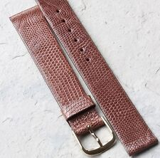 Caramel color Genuine Lizard 16mm vintage watch band Made in Canada NOS 1960/70s