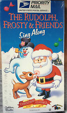 The Rudolph, Frosty & Friends Sing Along (VHS) SEALED: 24 min. family singalong